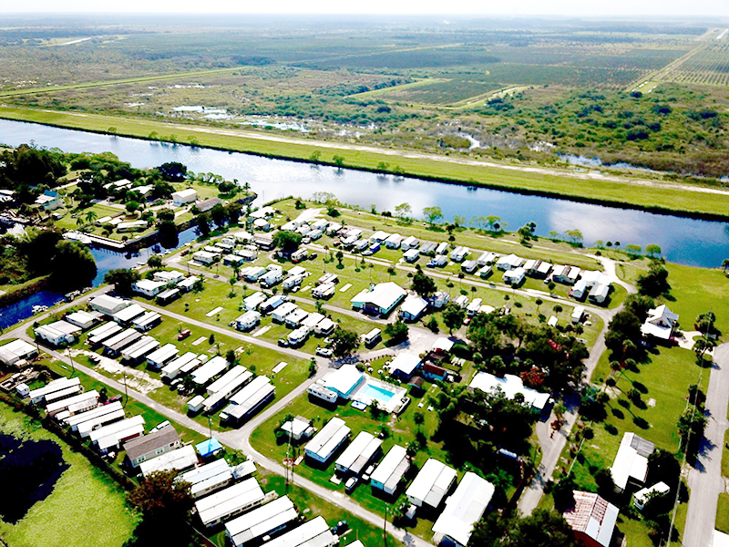 Meadowlark Shores and Moore Haven aerial view